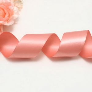 Double faced Colour Ribbons, Polyester, pink, 1.84m x 2.5cm, (SDD241)